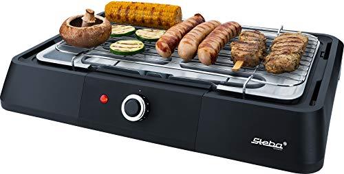 Steba BBQ Tischgrill VG G20 | hochwertiger Grillrost mit 39 x 22 cm | stufenlose Temperaturregelung | Low-Fat: Bratflüssigkeit läuft in eine Wasserschale ab
