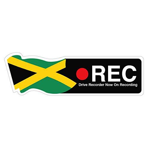 Biijo ドライブレコーダー 防水・耐熱 ステッカー シール サイズ 縦6.2cm×横20cmドライブレコーダーシール ドライブレコーダーステッカーあおり運転対策 国旗 英語表記(ジャマイカ)