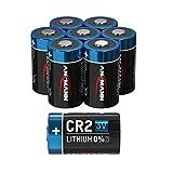 Batterie au lithium ANSMANN CR2 3V - lot de 8 batteries CR2 adaptées aux appareils ménagers, appareils de mesure et plus - pile jetable