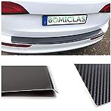 BOMICLAS Ladekantenschutz Stoßstangenschutz 5D Carbon auf Aluminium mit Abkantung, VWTou3