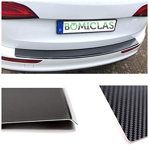 BOMICLAS Ladekantenschutz Stoßstangenschutz 5D Carbon auf Aluminium mit Abkantung, MokkaX