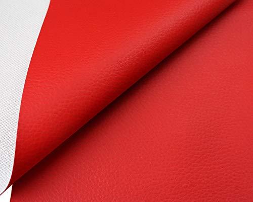 tukan-tex Kunstleder Möbel Textil Meterware Polster Stoff PVC (Rot)