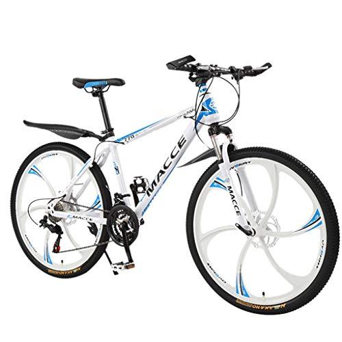 ererthome Mountainbike, 26 Zoll leichte Stoßdämpfung Mountainbike mit Variabler Geschwindigkeit,Religfahrrad,21-Speed Studentenfahrrad, Fahrrad, Cityräder (White)