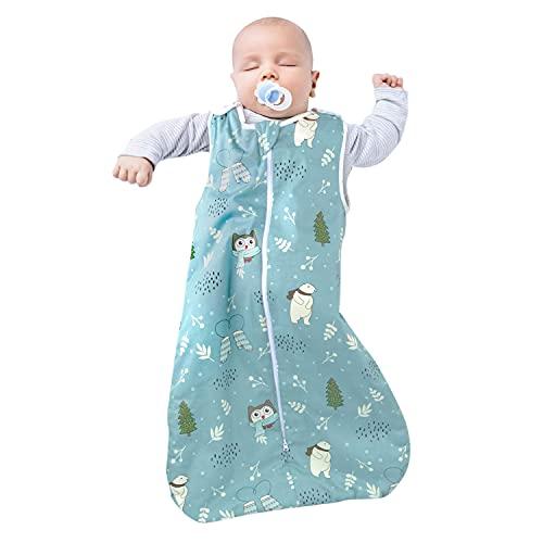 Viedouce Saco de Dormir para Bebé, Saco de Dormir de Algodón Bio para Bebés,Súper Suave,Longitud 80cm para Niño Niña(1 Tog,3-18 Meses)