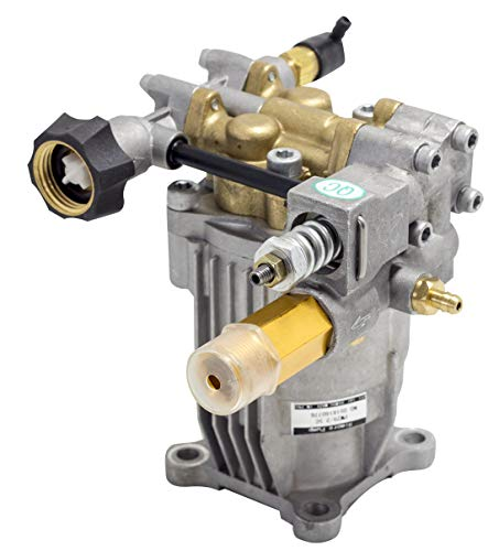 WASPPER ✦ Bomba de Reemplazo Hidrolimpiadora Horizontal 3000 PSI 200 Bar y Bomba de Reemplazo de Hidro Lavadora 6.5 HP ✦ Cabezal de Bronce, Modelo NR. PA000-PW29/2.5C