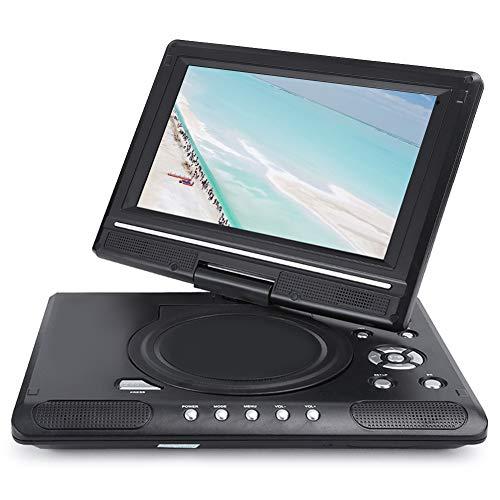 cigemay DVD portátil portátil, Mini TV HD de 9,8 Pulgadas, Pantalla LCD de Alta definición de 270 Grados Pantalla panorámica 16: 9, Función de Juego de función de TV Compatible(EU)