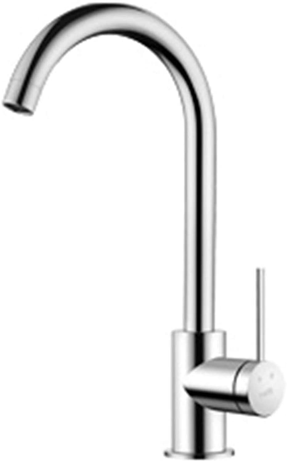 BAIF NNHHBNR Waschbecken Waschbecken Waschbecken 304 Edelstahl Küchenarmatur Pull Typ Hot and Cold Home, C