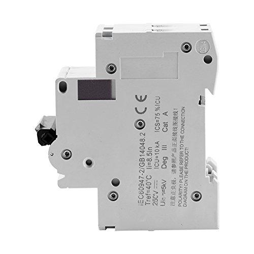 Interruptor de energía solar de baja tensión 1pc 2 poste interruptor de circuito miniatura para sistemas de CC industriales (16A)