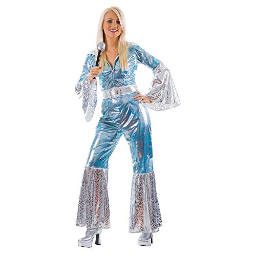 Wicked Costumes - Disfraz de ABBA, aos 70, para mujer (talla 44-46), color azul