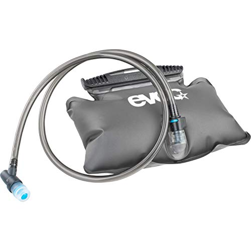 EVOC HIP PACK HYDRATION BLADDER 1,5l Trinkblase für den Rucksack (auslaufsicher, leicht zu befüllen, flexibler Schlauch, Beißventil, einfache Reinigung, Schadstofffrei), Carbon Grau