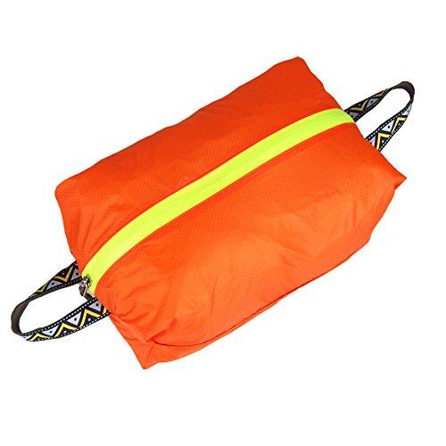 Ultra-ligero bolsa zapatos bolsa impermeable para viajar, kayak, natación-naranja, S