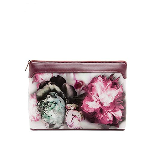 Lwieui Sacs de Toilette Mode for Dames Usine de Fleurs Imprimer Pochette Portable Sac cosmétique de Lavage (Couleur : A, Size : 24cm)