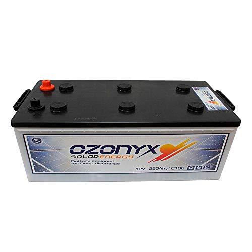 Batería Solar 12v 250Ah Descarga profunda Instalación Solar - Ozonyx