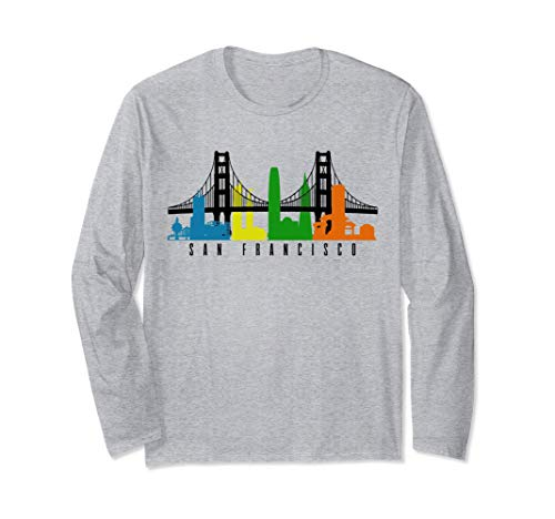 San Francisco California Kalifornien USA Amerika Souvenir Langarmshirt