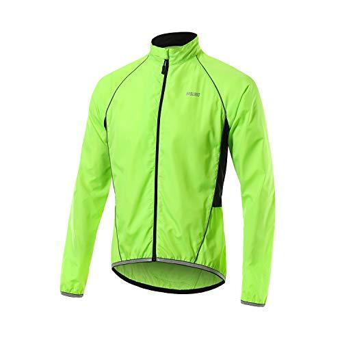 Arsuxeo 013 Herren-Fahrradjacke, wasserdicht, winddicht, hohe Sichtbarkeit XL grün