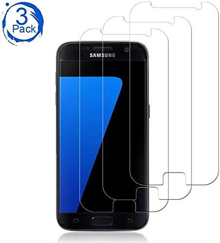 [3 Stück] Galaxy S7 Schutzfolie Panzerglas Bildschirm, 9H Festigkeit,HD Anti-Öl,Kratzer, Blasen & Fingerabdruck,Einfaches Anbringen,Panzerglasfolie Bildschirmschutzfolie für Samsung Galaxy S7