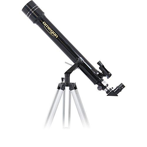 Omegon Télescope AC 70/700 AZ-2, télescope pour Le Ciel étoilé, avec Ouverture de 70 mm et Distance focale de 700 mm