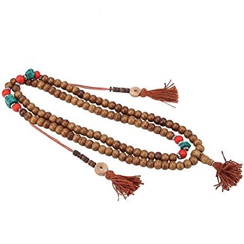 Pulsera de oración, collar, pulsera de Mala, oración budista, pulsera de Mala, regalo de cuentas malayas para mujer