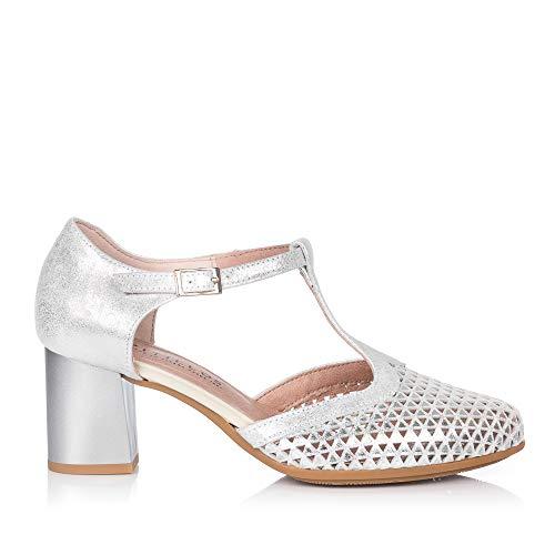 PITILLOS 5558 Zapato ASANDALIADO Alto Mujer Plata 40
