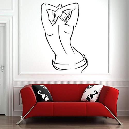 Salón tatuajes de pared mujer cuerpo vinilo pegatinas de pared sala de masajes salón de belleza decoración de interiores arte mural