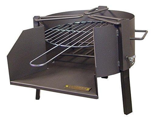 IMEX EL ZORRO 71423.0 Barbecue de Table avec Grille zinguée, Noir, 35 x 48 x 31 cm