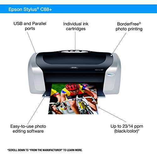 Epson Stylus C88+ Inkjet Printer Color 5760 x 1440 dpi Print Plain Paper Print Desktop Model C11C617121 Arkansas