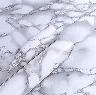 Vinyl Marble Wallpaper Self Adhesive Waterproof Contact Paper Peel and Stick Wallpaper for Kitchen Countertop 45cm x 300cm
