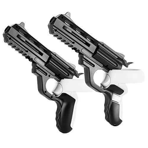 X-super Home Pistol Grips for Oculus Quest 2 Touch Controllers VR Combo Accessories Gun Set Compatible Arizona Sunshine Robo Recall Pavlov Pistol Whip VR Gun Club Pirate Trainer (Black)