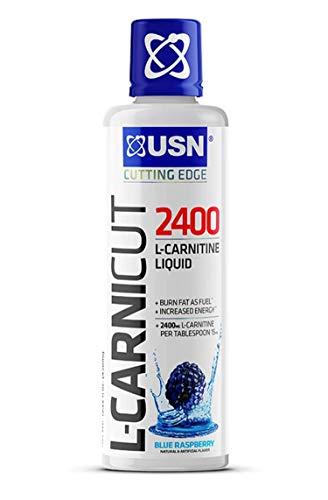 USN Supplements L-Carnicut Liquid Stimulant Free Fat Metabolizer, Blue Raspberry, 31 Servings