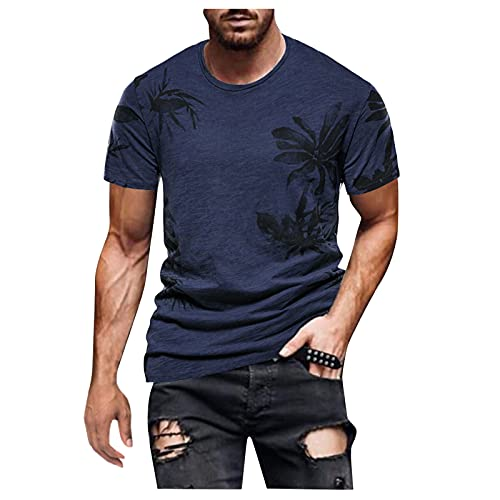 GBEN Camiseta de verano de manga corta para hombre, de manga corta, de secado rápido, camiseta deportiva para correr, cuello redondo, Slim Fit
