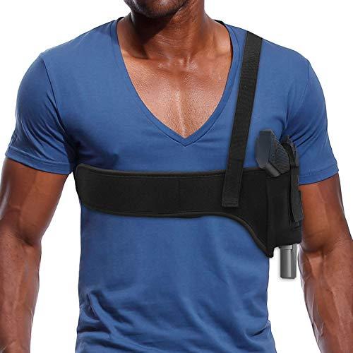Zenbuff Deep Concealment Shoulder Holster Universal Underarm Gun Holster for Men and Women Subcompact Compact Pistols Bodyguard Black