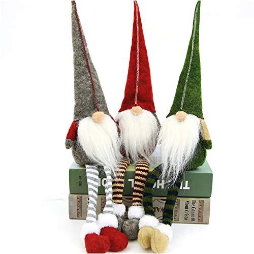 Christmas Swedish Santa Gnome Plush Doll Ornaments Decor Elf Xmas Handmade U1P2