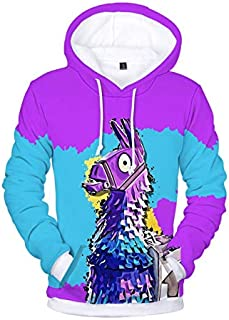 Fortnite 3D printing Hoodie Sweater round neck long sleeve fashion coat-M