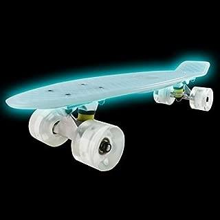 Jaidee shop New Spooner Board, Mini Cruiser Glow Skateboard Complete 22 Inch Standard Style Plastic Board