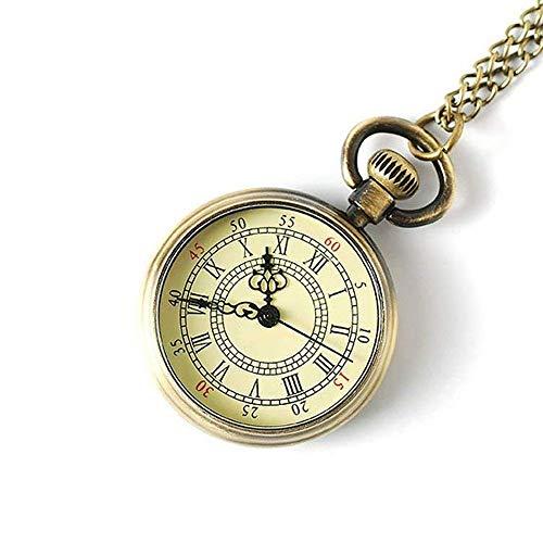 SMLZV Klassische Weinlese-Quarz-Taschen-Uhr-Geschenk-Studenten Halskette Dekoration Mechanische elektronische Wandtafeln for Männer und Frauen