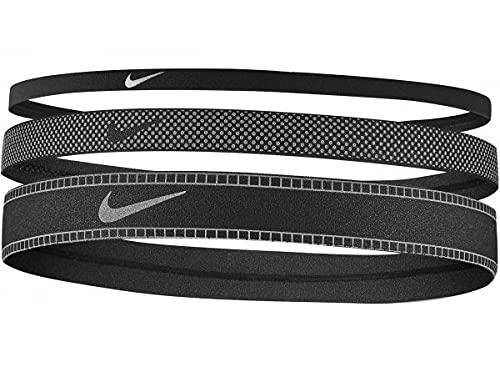 Nike Diademas reflectantes de ancho mixto para mujer, paquete de 3 unidades N1204 047