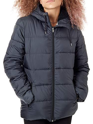Roxy - Chaqueta Acolchada Impermeable con Capucha - Mujer - M - Negro