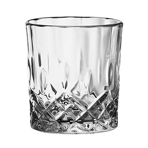 ZSLD Vasos De Cristal De Whisky, Seis Piezas Conjunto Premium Vasos De Diseño Espirituosas Y Tabuladas Diseño Scotch, De Old Fashioned Inferiores Gruesas del Vino, Cócteles