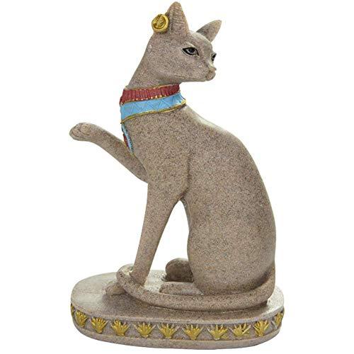 LXHJZ Estatua Bastet, Figura Diosa, esculturas Gato Egipcio, decoración del hogar, Adornos decoración la Diosa la protección del Gato la fertilidad