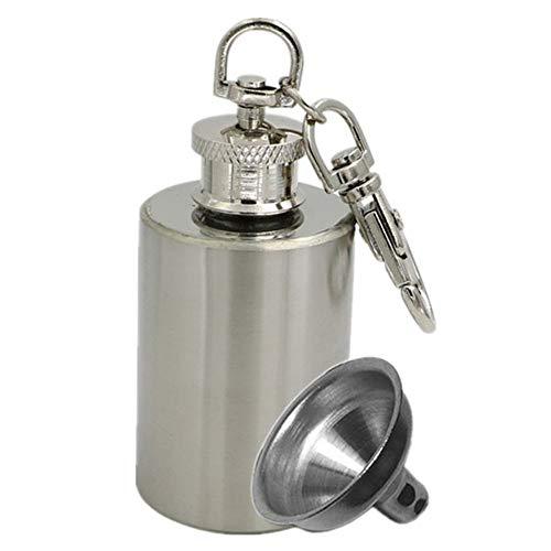 M&F MF délicat Mini 28,3 Gram Portable Thermos en Acier Inoxydable cylindrique Flacon de Tabac à Priser Porte-clés Pliables