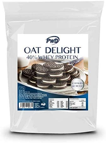 Oat Delight 40% Whey Protein 1,5Kg. (Cookies & Cream ...