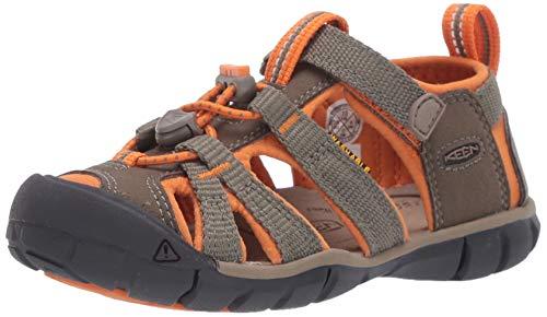 Keen Unisex-Kinder Seacamp Ii CNX Sandale, Dusty Olive/Russet Orange, 29 EU