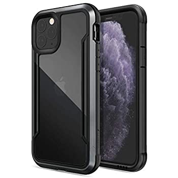 Raptic Shield Compatible with Apple iPhone 11  Formerly X-Doria Shield  - Military Grade Drop Tested Anodized Aluminum TPU and Polycarbonate Protective Case Apple iPhone 11 Black