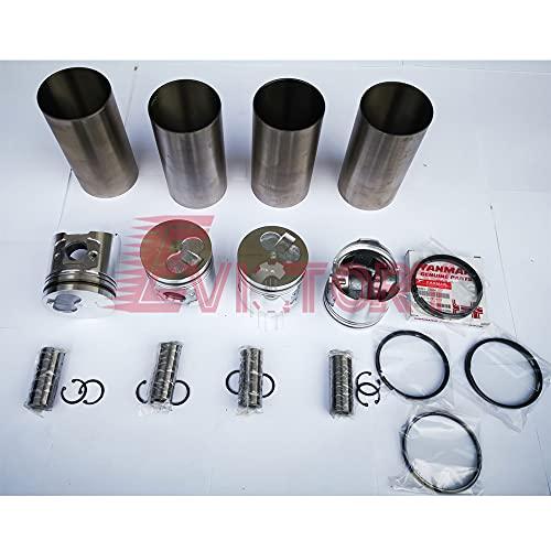 Para Yanmar 4TNE98 4D98E 4TNV98 Kit de reconstrucción pistón + anillo liner Junta Kit cojinete