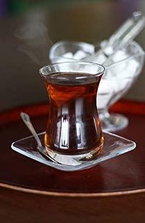 Topkapi–18de Piezas Türkisches Juego de té mehtap de Sultan, 6Vasos de té, 6Posavasos, 6cucharillas de té, Set Completo