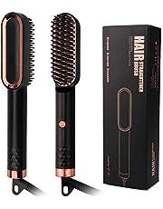 RLBUNZ Skäggplattång kam, elektrisk plattång keramisk män snabb skäggkam Beard Straightener, justerbar temperatur, skäggplattång för hemmabruk och resor