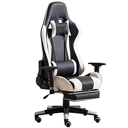 ZLQBHJ Sillas Gaming, Carreras de silla de estilo de juego, E-Sports Silla giratoria, Silla de oficina, respaldo alto, silla de escritorio del ordenador, sillón giratorio y ajustable en altura ergonóm
