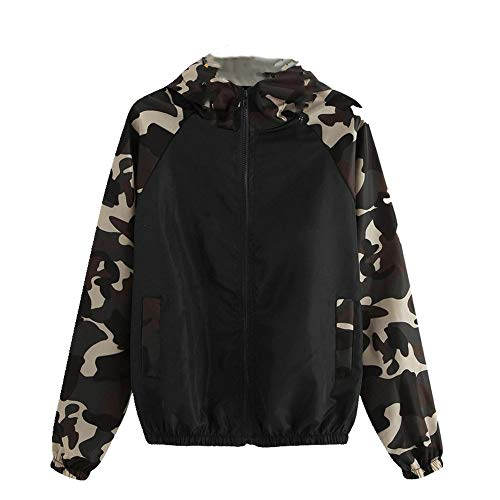 N\P Chaqueta de mujer patchwork manga larga cortavientos cremallera chaqueta señoras abrigos