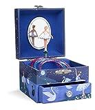 Jewelkeeper - Joyero Musical de niña con una Bailarina y un cajón extraíble, diseño con Brillo - Melodía del Lago de los Cisnes