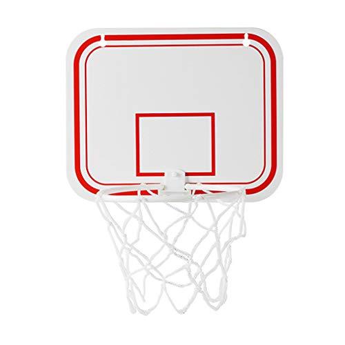 010 Mini Basketball Hoop Basketball Hoop Set, Mini Plastic Indoor Basketball Hoop Set with Ball and Pump Hanging Hoops Games (White)